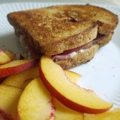 Summer Peach and Goat Cheese Sandwich:  This delicious summer sandwich pairs fresh peaches with creamy goat cheese and lacy-thin strips of Serrano ham. From MOTHER EARTH NEWS magazine.
