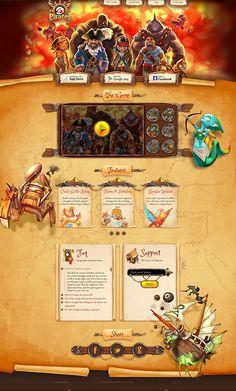 World of Pirates by Lepshey Studio from Behance