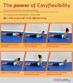 Back and shoulder flexibility.