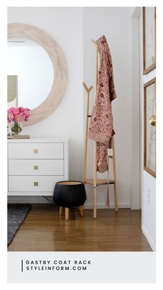 Organizing jackets, coats, scarves, and sweaters just got a little more stylish with this amazing Gatsby coat rack.Our Gatsby Coat Rack's modern design makes this well-appointed coat rack a must-have when things need to be kept tidy and organized. This free-standing coat rack in sturdy light-colored wood is lightweight and easily movable. Perfect for entryways, offices, dorm rooms and more. Selling Furniture, Online Furniture, Solid Wood Furniture, Furniture Design, Free Standing Coat Rack, Light Colored Wood, Wooden Coat Rack, Wholesale Furniture, Residential Interior Design