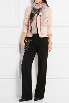 Balenciaga   Printed cotton and silk-blend scarf   NET-A-PORTER.COM