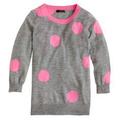 Azalea grey Tippi sweater in polka dot, via J. Crew, EUR 92.83 (Available in Navy burgundy, Carbon sandstone)