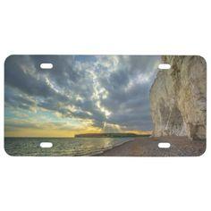 England Ocean License Plate -nature diy customize sprecial design