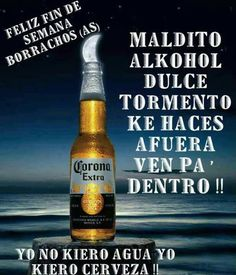 Discover recipes, home ideas, style inspiration and other ideas to try. Funny Spanish Jokes, Spanish Humor, Beer Memes, Beer Humor, Beer Bottle, Whiskey Bottle, Drinking Jokes, Tequila Beer, Corona Beer