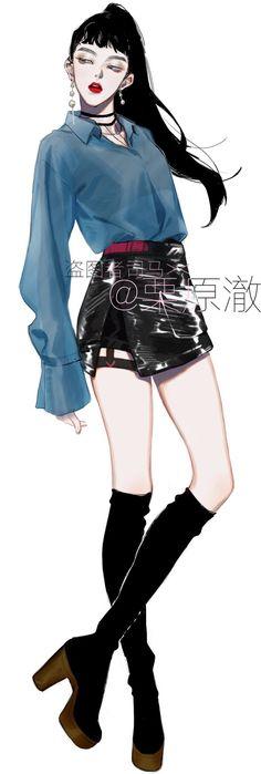30 Ideas Fashion Art Sketches Character Design For 2019 Anime Art Girl, Manga Art, Anime Girls, Cartoon Girls, Fashion Sketches, Art Sketches, Girl Bad, Chica Fantasy, Illustration Mode