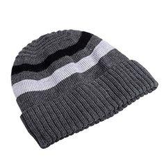 Home Prefer Men's Winter Outdoor Watch Hat Daily Wide Stripe Knit Beanie Cap Gray Home Prefer http://www.amazon.com/dp/B0171B8OYY/ref=cm_sw_r_pi_dp_CyKlwb1N5212F