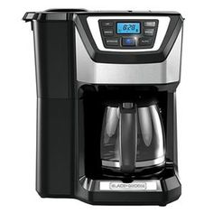 Black & Decker 12 Cup Mill and Brew Coffee Maker Color: Black Espresso Machine Reviews, Coffee Maker Reviews, Best Coffee Maker, Espresso Maker, Coffee Shop, Coffee Club, Coffee Girl, Coffee Lovers, Coffee Maker With Grinder