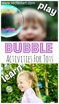 Fun Bubble Activities for simple educational bubble play ideas for infants. Best bubble activities for toddlers. Fun with bubbles. Bubble activities for preschoolers. Bubble themed ideas for infants and toddlers. Bubble Activities, Outdoor Activities For Toddlers, Outdoor Fun For Kids, Activities For 2 Year Olds, Birthday Activities, Summer Activities For Kids, Infant Activities, Bubble Games, Preschool Activities