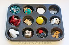 """Activities for 18 month olds. Like """"musical hide and seek"""" and """"muffin tin surprise. 7 Month Old Baby Activities, Craft Activities For Kids, Infant Activities, Crafts For Kids, Lego Activities, Creative Activities, Activity Ideas, Toddler Play, Baby Play"""