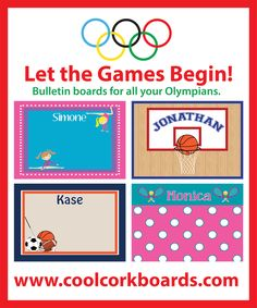 Hang your medals, ribbons, pictures, pins... on a cool sporty bulletin board created especially for you!