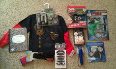 Spy Gear themed birthday gift for our 6-year-old spy! :)