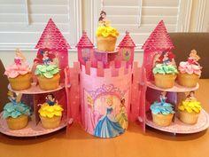 Disney princess cupcakes made at work