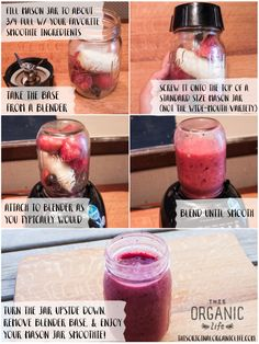 Make Your Own Mason Jar Blender for Smoothies via This Organic Life - www.thisoriginalorganiclife.com