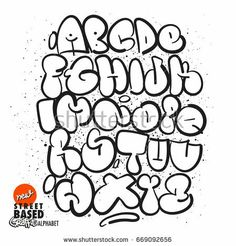graffiti alphabet letters a-z styles Grafitti Letters, Graffiti Alphabet Styles, Graffiti Lettering Alphabet, Hand Lettering Art, Graffiti Characters, Graffiti Styles, Creative Lettering, Graffiti Text, Graffiti Wall Art