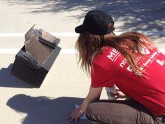 SoCal Solar Energy's Allison Willman judging a solar cooker.