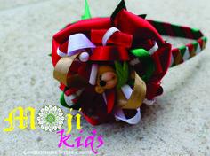 diademas con diseños navideños hechas a mano