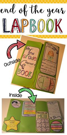 End of the Year Need a fun way to take a look back at the End of the Year? This lapbook is the perfect way to allow your students to remember all the fun they've had this year and summarize for the End of the Year Activities. This pack is full of interactive flip books, layered books, writing prompts, and other fun. Activities include an about me page, schedule, flip book of favorite things, memory paragraph, staggered book of friends, signature page, and fun facts about the student.