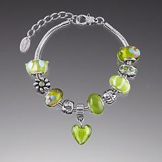 Peridot Glass Bracelet