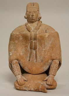 Seated Female Figure  6-9th century  Mexico   Ceramic musical instrument  Metropolitan Museum of Arts N.York  M