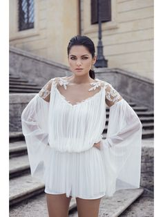 SILK TULLE EMBROIDERED TOP - Rhea Costa-Shop