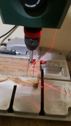 Making of wine holder step 3 - Making holes