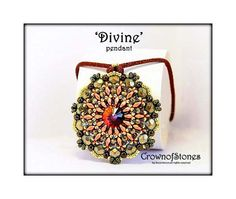 20 OFF NEW beading pattern Pendant 'Divine' with by CrownofStones