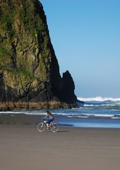 Bike ride on Cannon Beach, OR DON'T MISS OUT! Zippertravel.com Digital Edition Sky Full Of Stars, Cannon Beach, Night Skies, Oregon, Bike, Sunset, Digital, Water, Outdoor