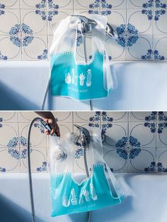 A tote to avoid wasting all that water in your house while you wait for the water from the tap to get hot.