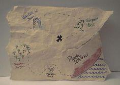 homemade treasure map, awesome!