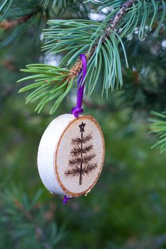 Birch Tree Ornaments Christmas Holidays Wood by SimplyOrganicMe