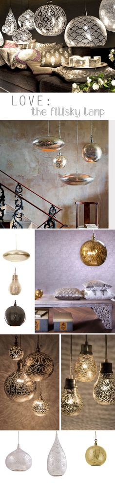 Love: filigrain and filisky lamps | deuxjoli.nl