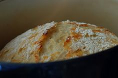 CRUSTY BREAD:    it literally takes 2 minutes to stir together the dough - let it sit overnight and then bake.            3 cups unbleached all purpose flour,     1 3/4 t salt,                                         1/2 t yeast,                                             1 1/2 cups water.