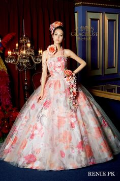RENIE pink Beautiful Costumes, Beautiful Gowns, Formal Dresses, Wedding Dresses, Flower Prints, Ball Gowns, Bridal, Princess, Pink
