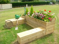 I am building a planter box behind Brians horse shoe pits... Girl them up a bit!