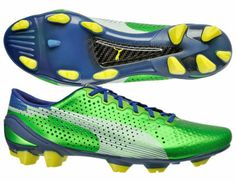 New PUMA EvoSpeed 1 FG SL Mens Soccer Cleats Super Light - Green