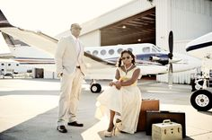 Airport Themed Engagement Session in Alabama - by Milanes Photography: love the theme!