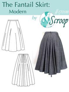 Fantail Skirt: Modern