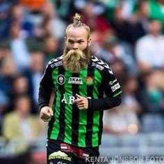 Asgeir Borkur - Icelandic midfielder Nordic beard which makes this man the most impressive pitch he steps onto Awesome Beards, Beard Care, Hair And Beard Styles, Moustache, Motorcycle Jacket, Soccer, Jokes, Graphic Sweatshirt, Punk