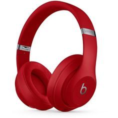 Beats by Dr. Dre Studio 3 Wireless Headphones (£265) ❤ liked on Polyvore featuring men's fashion, men's accessories, men's tech accessories and red