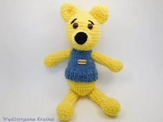 Albert  yellow crochet bear stuffed toy plushie bear