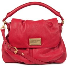 Marc By Marc Jacobs Lil Ulkita Leather Shoulder Bag ($565) ❤ liked on Polyvore
