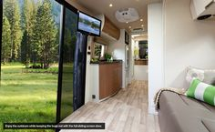 1 slide out sofa makes into bed, sliding screen door, shower, van size.... Leisure Travel Vans - The All New 2013 Free Spirit SS