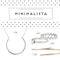 Acessórios minimalistas, uma de nossas paixões! <3  #minimalista #acessoriosminimalistas #accessories #necklace #ring #anel #colar #geometrico #biju #bijoux