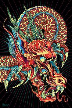Space Dragon: Studio Wall Mural Installation on Behance