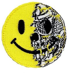 Patch Squad Men's Evil Skull Smiley Face Tactical Morale Patch