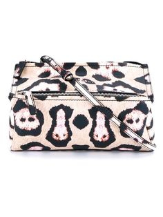 GIVENCHY Leopard Print Leather Pandora Bag. #givenchy #bags #shoulder bags #leather #cotton