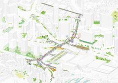 MVRDV transformará autopista abandonada de Seúl en exuberante jardín elevado