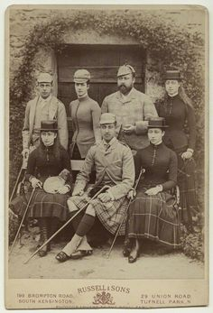 facesofthevictorianera:  Wales Family 1884-front:  Princess Maud (later Queen of Norway), Prince Albert Victor (Duke of Clarence), Princess Louise (later Duchess of Fife) ; back-Prince George (later Duke of York, Prince of Wales, King George V), Princess Alexandra (later Queen Alexandra), Prince Albert Edward (later King Edward VII), Princess Victoria (later Princess Royal) Photo Source: NPG, London