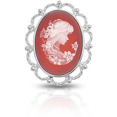 Bling Jewelry Bling Jewelry Red Resin Cameo Pendant Brooch Pin 925... ($48) ❤ liked on Polyvore featuring jewelry, brooches, red, cameo pendant necklace, cameo brooch, antique cameo brooch, red pendant necklace and antique brooches