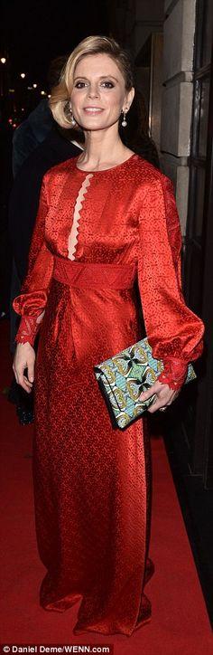 Loving this dress! A redTemperley silk dress, worn by Emilia Fox.